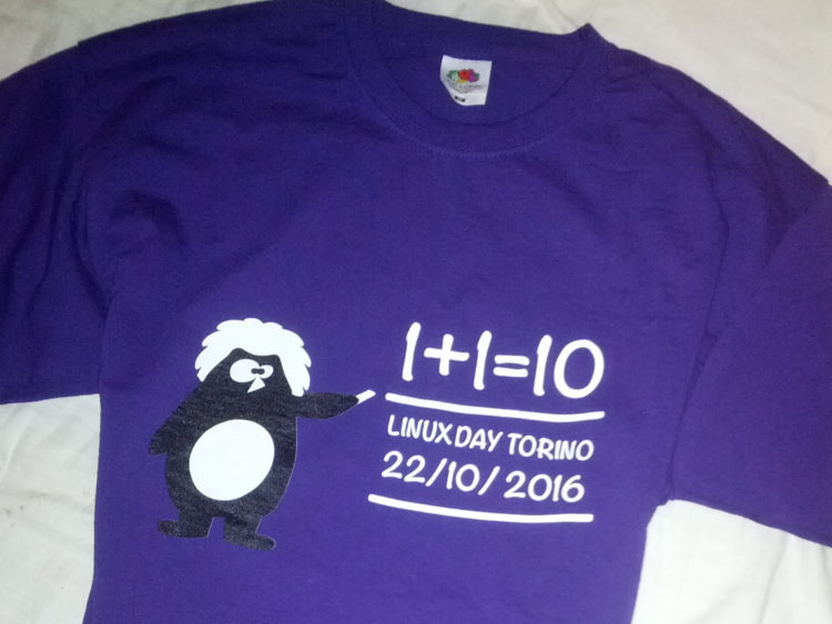 T-shirt del Linux Day 2016