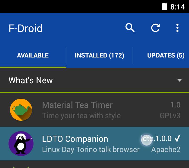 App companion su F-Droid